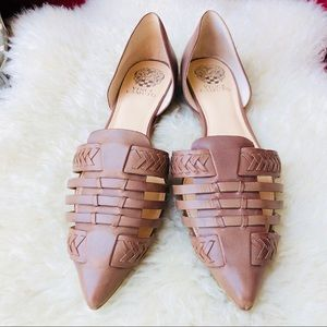 Vince Camuto Hadria Brown D'orsay Flats Sz 10